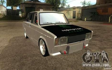 Vaz Lada 2107 Drift for GTA San Andreas back view