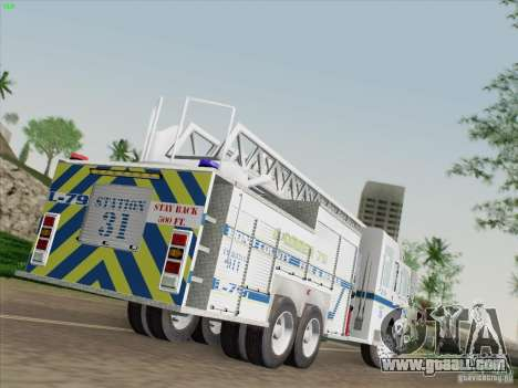Pierce Puc Aerials. Bone County Fire & Ladder 79 for GTA San Andreas left view