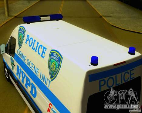 Mercedes Benz Sprinter NYPD police for GTA San Andreas right view