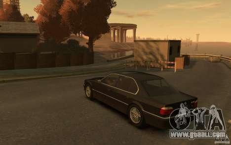 BMW 750iL (E38) v.3 for GTA 4 back left view
