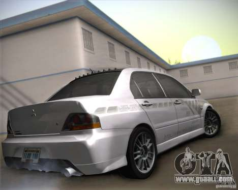 Mitsubishi Lancer Evolution IX Tunable for GTA San Andreas upper view