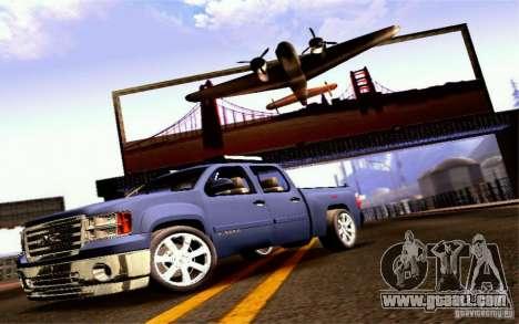 GMC Sierra 2011 for GTA San Andreas back left view
