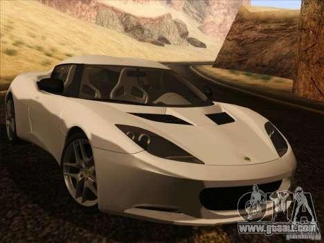 Lotus Evora for GTA San Andreas back view