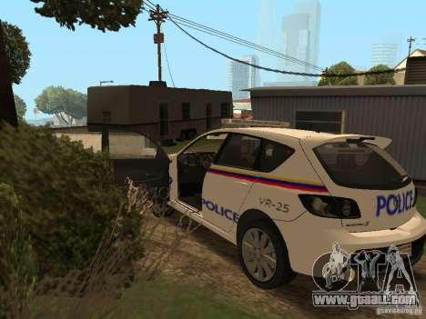 Mazda 3 Police for GTA San Andreas inner view