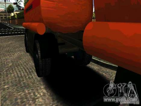 MAZ 533702 trailer Truck for GTA San Andreas left view