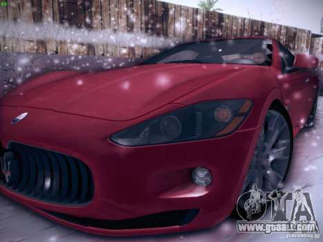 Maserati Gran Turismo S 2011 V2 for GTA San Andreas left view