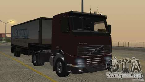Volvo FH12 for GTA San Andreas interior
