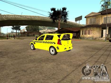 Dacia Sandero Speed Taxi for GTA San Andreas left view
