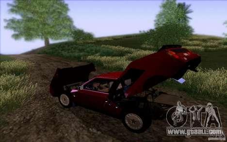 Lancia Delta S4 Stradale (SE038) for GTA San Andreas back view