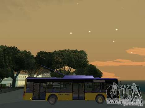 Trolleybus LAZ e-183 for GTA San Andreas side view