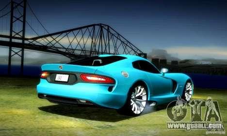 Dodge Viper SRT  GTS for GTA San Andreas back left view