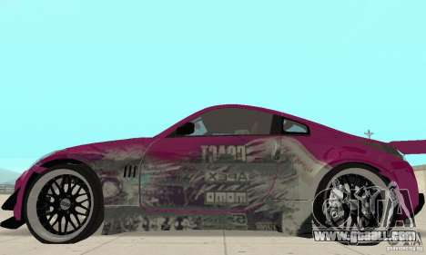 Nissan 350Z Tuning for GTA San Andreas back left view