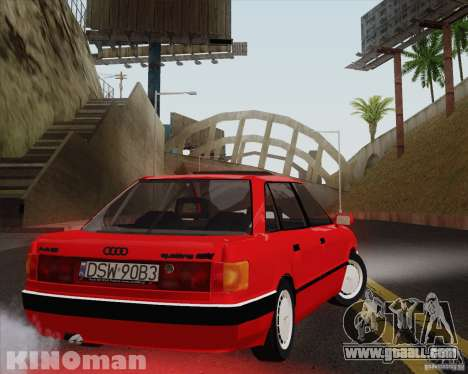Audi 90 Quattro for GTA San Andreas left view