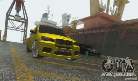 BMW X5M Gold Smotra v2.0 for GTA San Andreas left view
