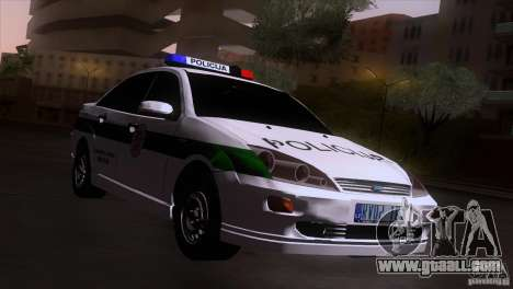 Ford Focus Policija for GTA San Andreas back left view