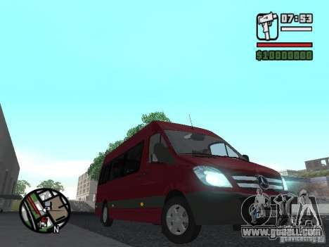 Mercedes-Benz Sprinter 313 CDi for GTA San Andreas left view