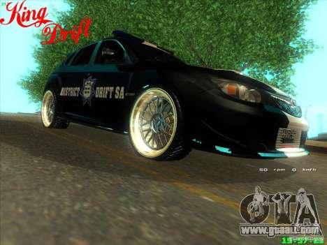 Subaru Impreza WRX Police for GTA San Andreas right view