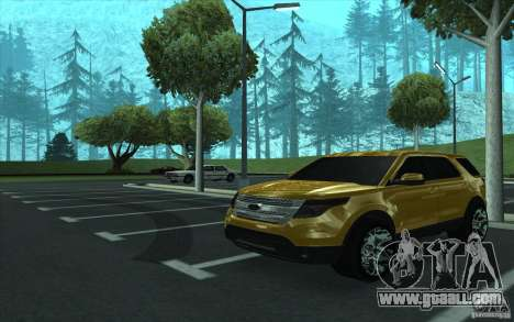 Ford Explorer Limited 2013 for GTA San Andreas inner view