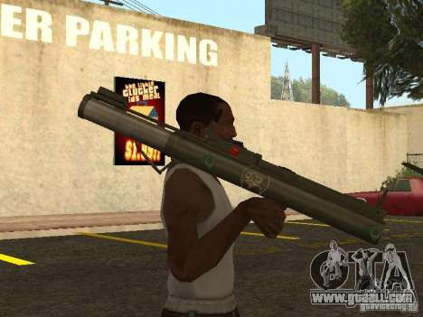 LAW Rocket launcher for GTA San Andreas third screenshot