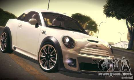 Mini Concept Coupe 2010 for GTA San Andreas left view