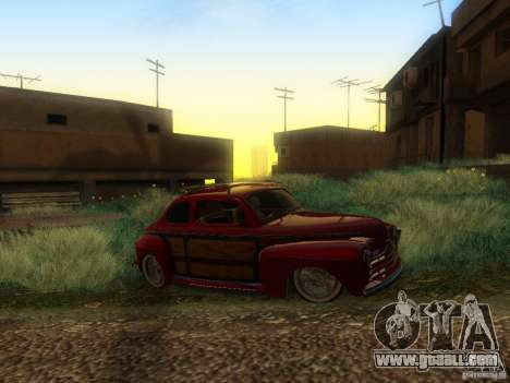 Ford Coupe 1946 Mild Custom for GTA San Andreas back view