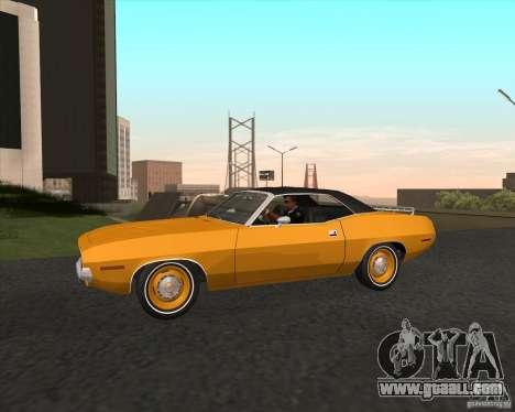 Plymouth Cuda Ragtop 1970 for GTA San Andreas