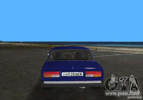VAZ 2107 LADA car for GTA Vice City back left view