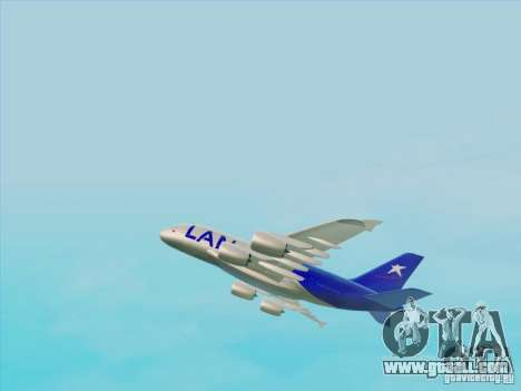 Airbus A380-800 Lan Airlines for GTA San Andreas right view