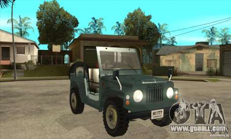 Suzuki Jimny for GTA San Andreas back view