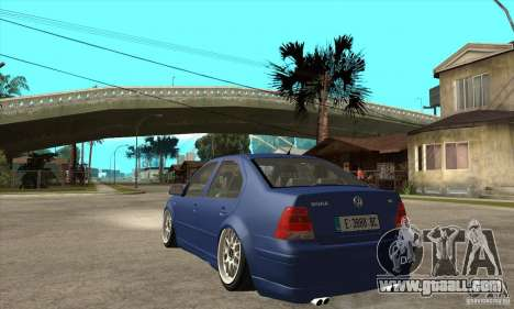 VW Bora VR6 Street Style for GTA San Andreas back left view