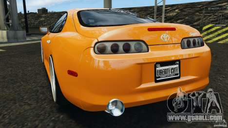 Toyota Supra Tuning for GTA 4 back left view