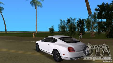 Bentley Continental Supersport for GTA Vice City back left view