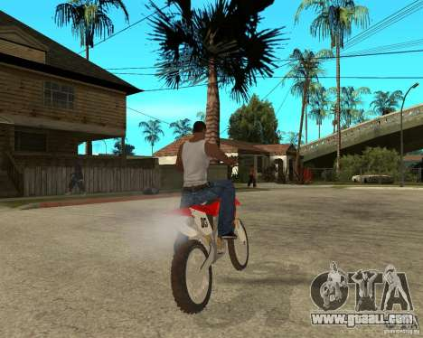 Honda CRF450R extreme Edition for GTA San Andreas back left view