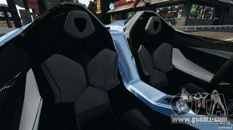 Lamborghini Aventador J 2012 for GTA 4 inner view