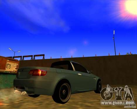 BMW M3 E90 pickup for GTA San Andreas back left view