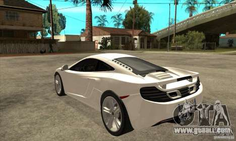 McLaren MP4 12c for GTA San Andreas back left view