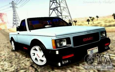 GMC Syclone Stock for GTA San Andreas