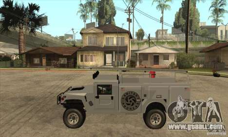 Hummer H1 Utility Truck for GTA San Andreas left view