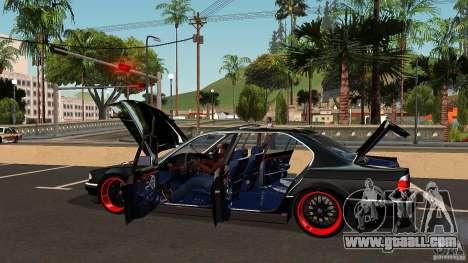 BMW E38 750LI for GTA San Andreas bottom view