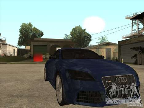 Audi TT RS 2010 for GTA San Andreas back view