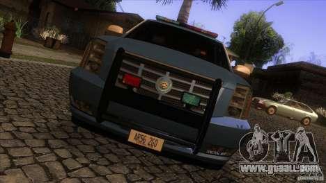 Cadillac Escalade 2007 Cop Car for GTA San Andreas inner view