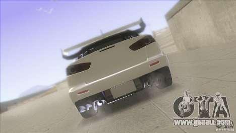 Mitsubishi Lancer Evo IX DIM for GTA San Andreas upper view