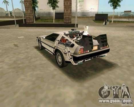 BTTF DeLorean DMC 12 for GTA Vice City back view