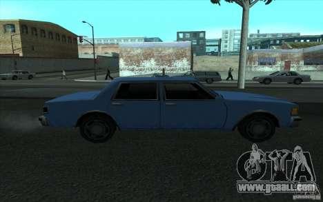 Civilian Police Car LV for GTA San Andreas left view