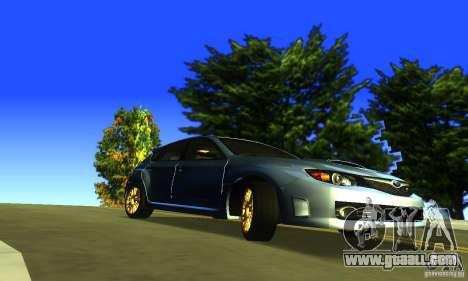 Subaru Impresa WRX STI 2008 for GTA San Andreas right view