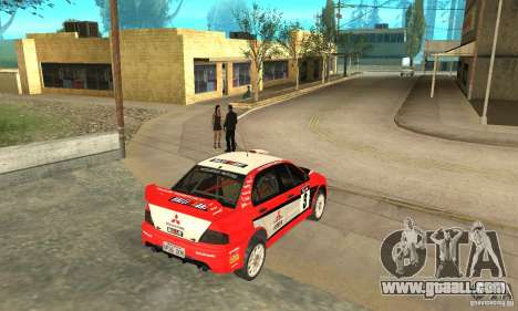 Mitsubishi Lancer Evolution IX for GTA San Andreas interior