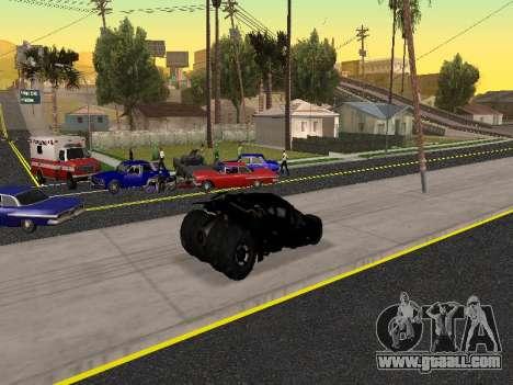 Tumbler Batmobile 2.0 for GTA San Andreas upper view