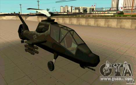 Sikorsky RAH-66 Comanche stealth green for GTA San Andreas back left view