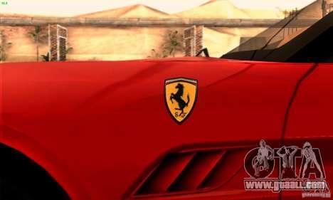 Ferrari California V3 for GTA San Andreas side view