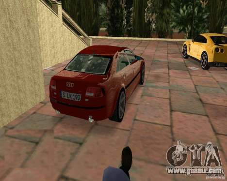 Audi A8 4.2 quattro for GTA Vice City left view